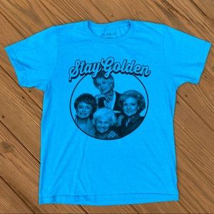"Other - ""Stay Golden"" Golden Girls Blue Graphic Tee - M"